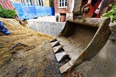 Aggiunta della costruzione alla casa Fotografie Stock Libere da Diritti