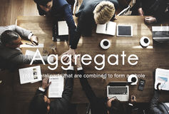 Aggregate Assemble Accumulate Gather Unity Concept. Business People Group Unity Planning Concept royalty free stock photography