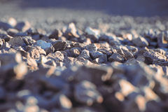 Aggregate. Crushed stone. Rocks Royalty Free Stock Photo