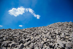 Aggregate. Crushed stone. Rocks Royalty Free Stock Photography