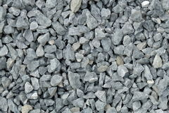 Aggregate / Gravel Pattern - A Heap Of Coarse Gray Stones, Crushed At A Stone Pit Stock Photos