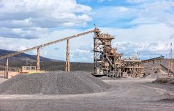 Aggregate processing plant Royalty Free Stock Image