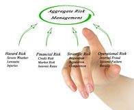 Aggregate Risk Management. Presenting diagram of Aggregate Risk Management Stock Photography