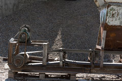 Aggregate sifting and packaging. At an concrete manufacturing plant Stock Photos