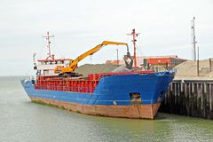Aggregates cargo ship Stock Photography