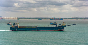 Aggregates carrier vessel Stock Images