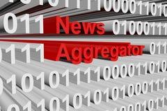 Aggregator ειδήσεων Διανυσματική απεικόνιση