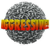 Aggresive 3d Word Exclamation Point Mark Sphere Bold Action Stock Image
