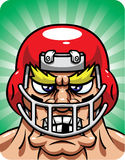 Aggresive Football Player Stock Photo