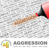 AGGRESSION. Concept illustration. Graphic tag collection. Wordcloud collage Royalty Free Stock Images