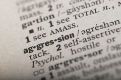Aggression in a Dictionary royalty free illustration