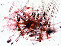 Aggression. Figure drawn in a spontaneous painting technique Royalty Free Stock Image