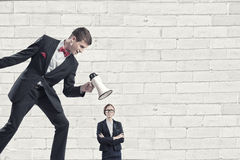 Aggression and humiliation in communication Royalty Free Stock Images