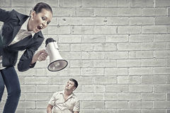 Aggression and humiliation in communication Royalty Free Stock Photo