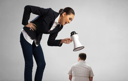 Aggression and humiliation in communication Stock Photos