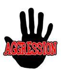 Aggressione di Handprint Fotografia Stock