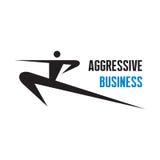 Aggressiv affär - vektorlogotecken Arkivbilder