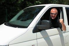 Aggressiv chaufför Arkivbilder