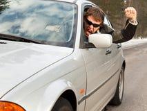 aggressiv chaufför Fotografering för Bildbyråer