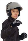 aggressiv cyklist Arkivfoton
