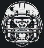 Aggressiv gorilla Royaltyfri Fotografi