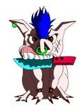 aggressiv pig stock illustrationer