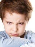 aggressiv pojke Royaltyfri Bild
