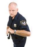 aggressiv polis Royaltyfria Bilder