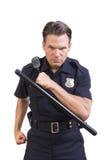 Aggressiv polis Royaltyfri Bild