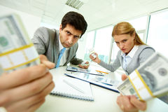 Aggressive accountants Stock Photos