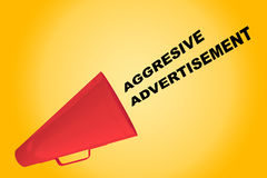 Aggressive Advertisement concept Royalty Free Stock Photography