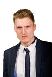 Aggressive angry young businessman portrait Stock Images
