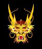 Aggressive Asian Dragon in low polygon style, Geometric pattern, illustrator dragon face EPS 10 vector illustration