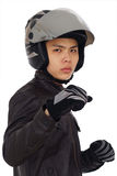 Aggressive biker Stock Photos