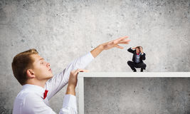 Aggressive boss Stock Images