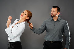 Aggressive boss Stock Photo