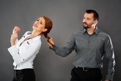 Aggressive boss Stock Photo