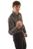 Aggressive boy Stock Photography