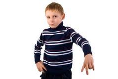 Aggressive Boy Portrait. Stock Photo