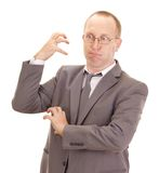Aggressive business person Royalty Free Stock Image