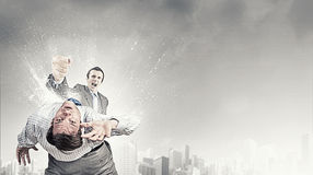 Aggressive business tactics Royalty Free Stock Image