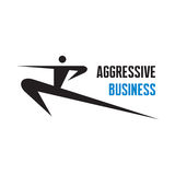 Aggressive Business - vector logo sign Stock Images