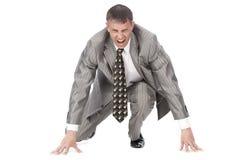 The aggressive businessman stock photo