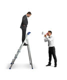 Aggressive businessman with megaphone Royalty Free Stock Photo