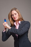 Aggressive businesswoman Stock Photos