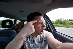 Aggressive car drivers. A very aggressive car drivers Royalty Free Stock Images