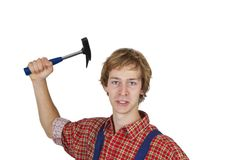 Aggressive  craftsman Stock Photography