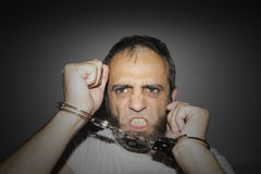 Aggressive delinquent Stock Images