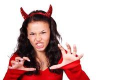 Aggressive devil stock photo
