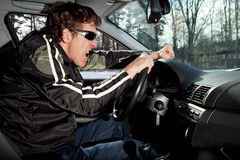 Aggressive driver Royalty Free Stock Photography